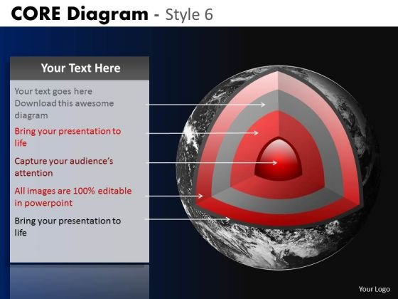 PowerPoint Layout Corporate Strategy Targets Core Diagram Ppt Theme