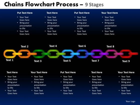 PowerPoint Layout Cycle Chart Chains Flowchart Ppt Design Slides