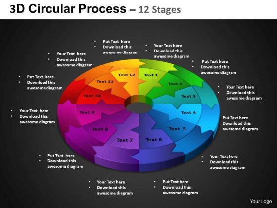 PowerPoint Layout Cycle Process Circular Process Ppt Presentation Designs