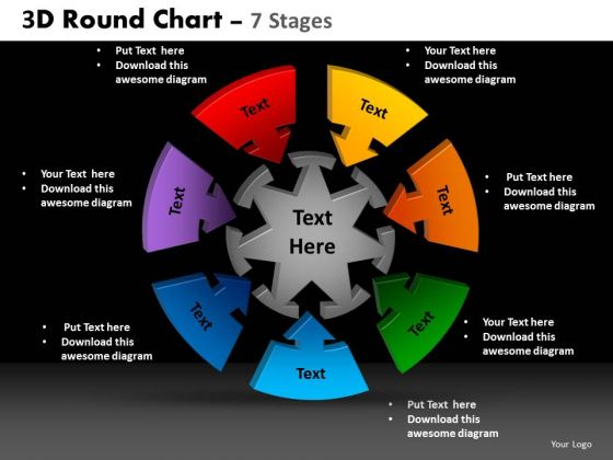 PowerPoint Layout Diagram Round Chart Ppt Layouts - PowerPoint ...