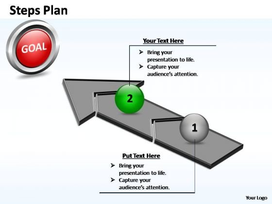 PowerPoint Layout Diagram Steps Plan 2 Stages Style 4 Ppt Slide Designs