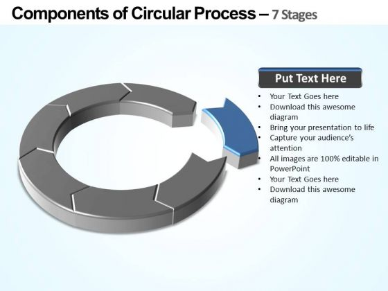 PowerPoint Layout Download Components Of Circular Ppt Template