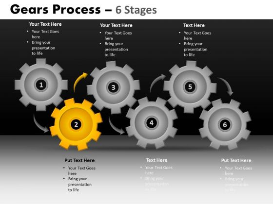 PowerPoint Layout Download Gears Process Ppt Template