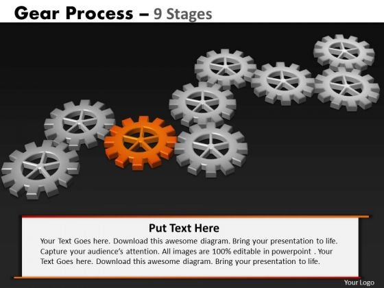 PowerPoint Layout Education Gears Process Ppt Slides