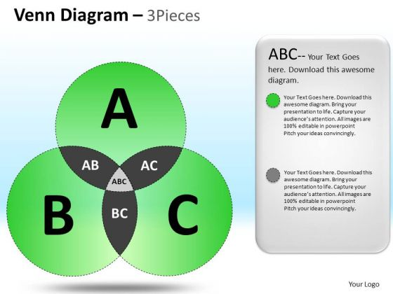PowerPoint Layout Executive Competition Venn Circular Process Diagram Ppt Templates