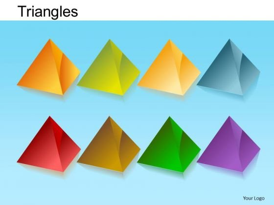 PowerPoint Layout Executive Growth Pyramid Triangles Ppt Theme