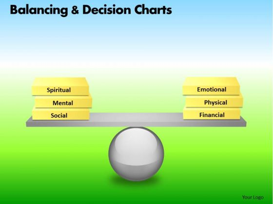 PowerPoint Layout Executive Strategy Balancing Decision Charts Ppt Process
