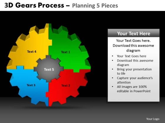 PowerPoint Layout Gears Process Ppt Presentation Designs