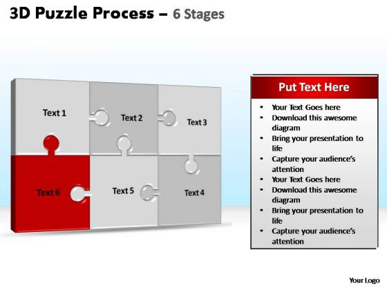 PowerPoint Layout Global Puzzle Process Ppt Template