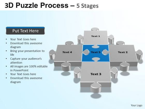 PowerPoint Layout Global Puzzle Process Ppt Theme