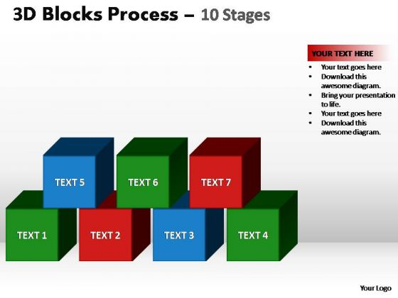 PowerPoint Layout Graphic Blocks Process Ppt Template