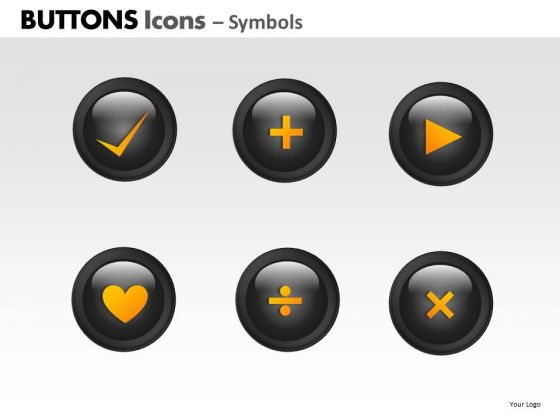 PowerPoint Layout Graphic Buttons Icons Ppt Slide Designs