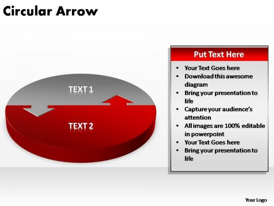 PowerPoint Layout Graphic Circular Arrow Ppt Themes