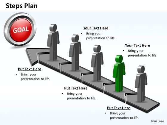 PowerPoint Layout Graphic Steps Plan 5 Stages Style 5 Ppt Design
