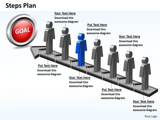 PowerPoint Layout Graphic Steps Plan 7 Stages Style 5 Ppt Designs