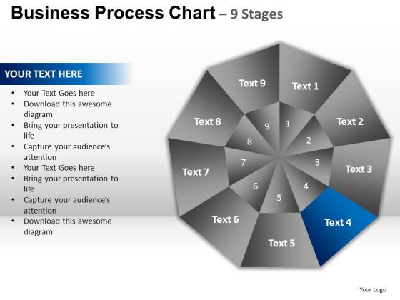 PowerPoint Layout Growth Circular Quadrant Ppt Design
