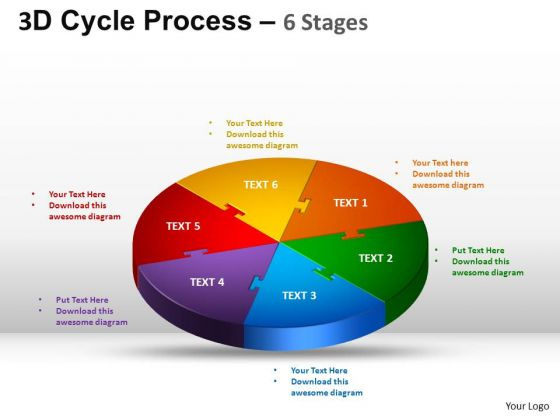 PowerPoint Layout Growth Cycle Process Flow Ppt Slides