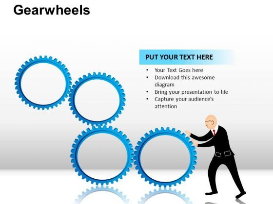 PowerPoint Layout Image Gearwheels Ppt Layout