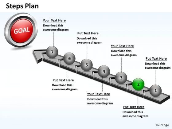 PowerPoint Layout Image Steps Plan 7 Stages Style 4 Ppt Slide
