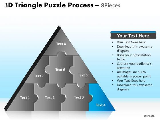 PowerPoint Layout Image Triangle Puzzle Ppt Design Slides