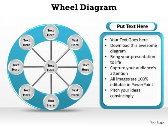 PowerPoint Layout Image Wheel Diagram Ppt Template