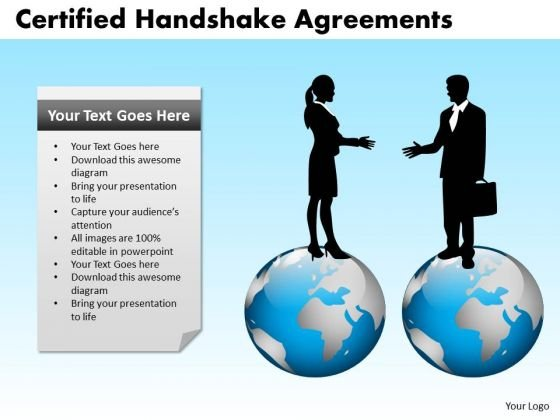 PowerPoint Layout Leadership Certified Handshake Ppt Design Slides