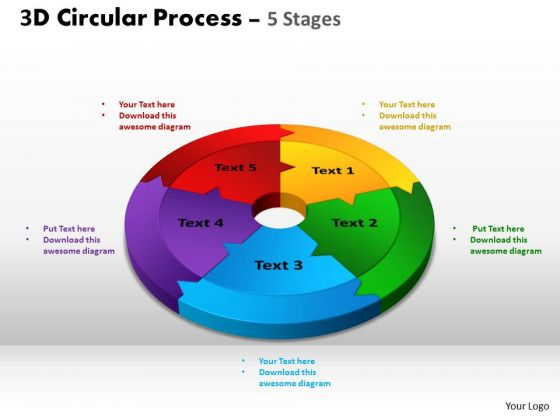 PowerPoint Layout Leadership Circular Process Cycle Ppt Process