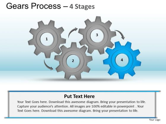 PowerPoint Layout Leadership Gears Process Ppt Designs