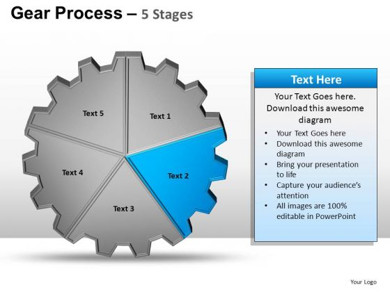 PowerPoint Layout Leadership Gears Process Ppt Slide