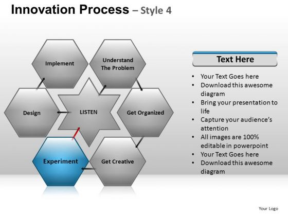 PowerPoint Layout Leadership Hexogon Chart Ppt Process
