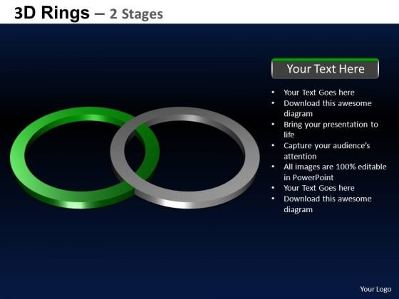 PowerPoint Layout Leadership Rings Ppt Backgrounds