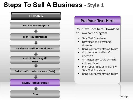 PowerPoint Layout Leadership Steps To Sell Ppt Slide Designs