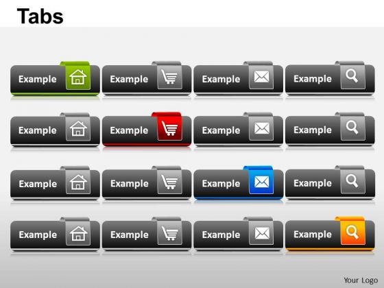 PowerPoint Layout Leadership Tabs Ppt Theme