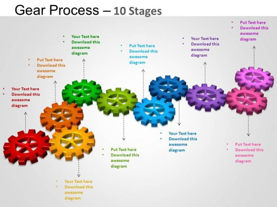 Powerpoint Layout Marketing Gears Process Ppt Presentation