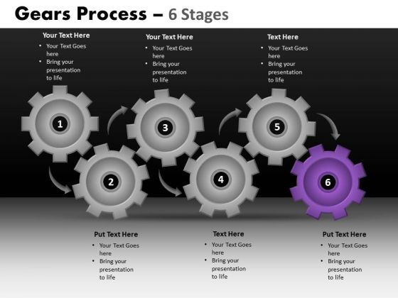 PowerPoint Layout Marketing Gears Process Ppt Template