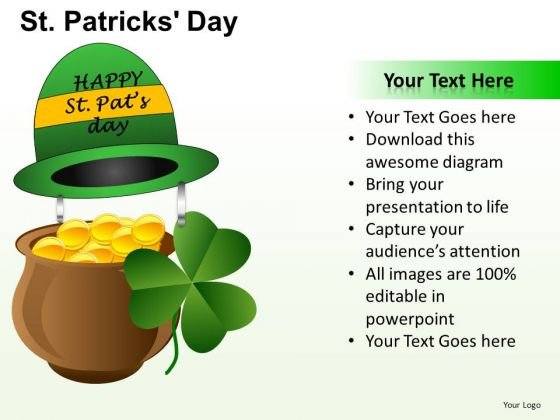 PowerPoint Layout Pot Of Gold Patricks Day Ppt Backgrounds