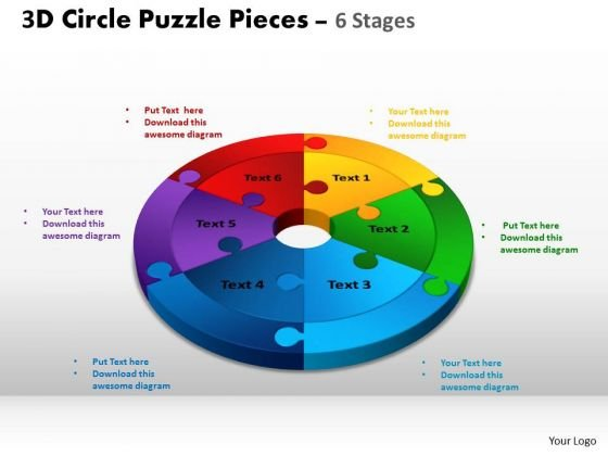 PowerPoint Layout Process Circle Puzzle Ppt Designs