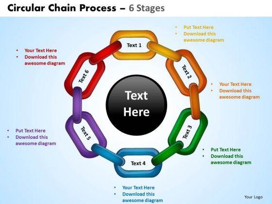 PowerPoint Layout Process Circular Chain Ppt Backgrounds