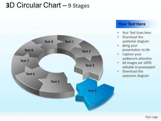 PowerPoint Layout Process Circular Chart Ppt Backgrounds