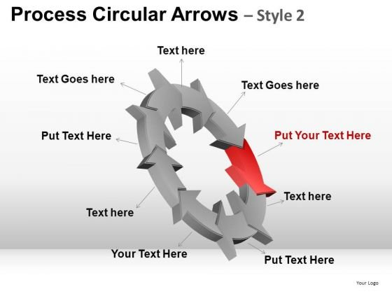 PowerPoint Layout Process Corporate Success Circular Arrows Ppt Themes