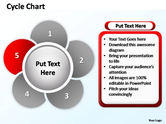 PowerPoint Layout Process Cycle Chart Ppt Backgrounds