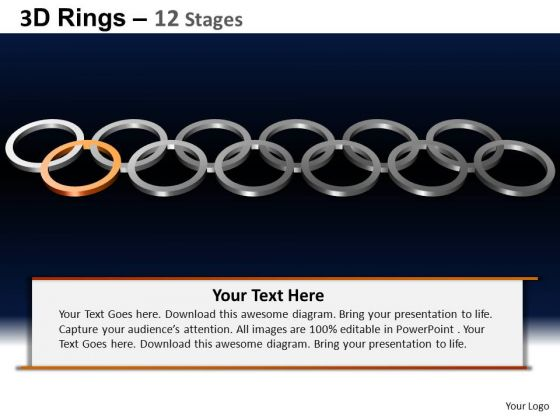 PowerPoint Layout Process Rings Ppt Design Slides