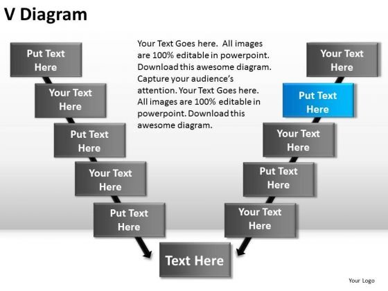 PowerPoint Layout Process V Diagram Ppt Backgrounds