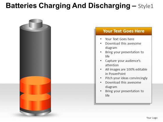 PowerPoint Layout Sales Batteries Charging And Discharging Ppt Theme