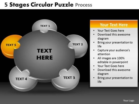 PowerPoint Layout Sales Circular Puzzle Ppt Slides