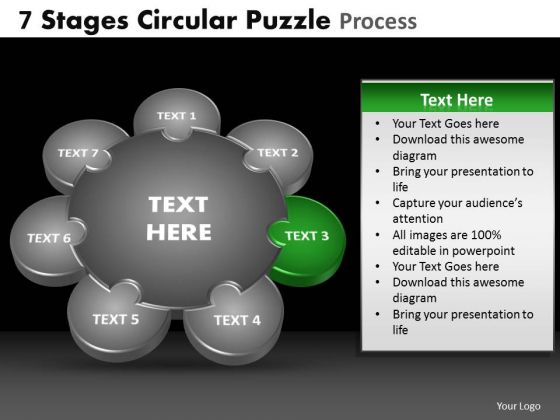 PowerPoint Layout Sales Circular Puzzle Ppt Themes