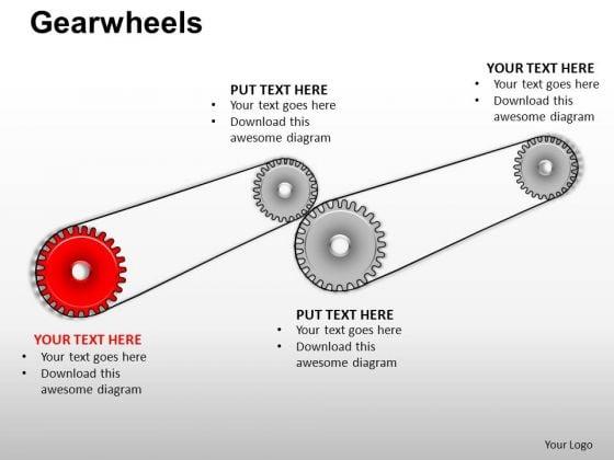 PowerPoint Layout Sales Gearwheels Ppt Design