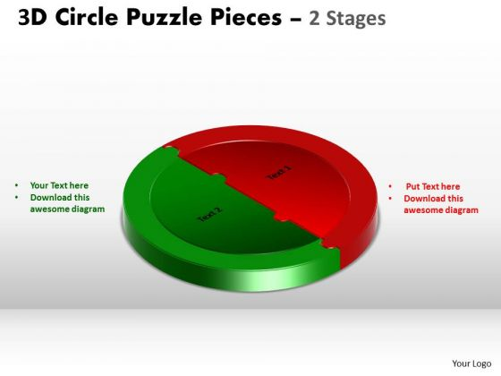 PowerPoint Layout Strategy Circle Puzzle Ppt Theme