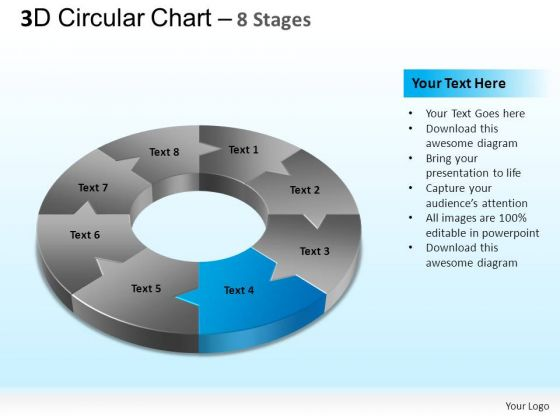 PowerPoint Layout Strategy Circular Chart Ppt Theme