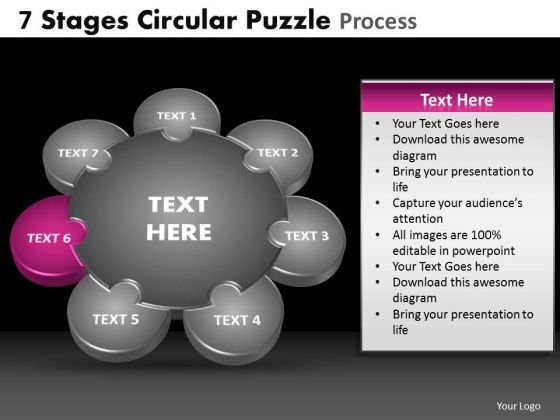 PowerPoint Layout Strategy Circular Puzzle Ppt Themes